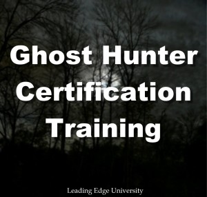 Ghost hunting certification training course school university